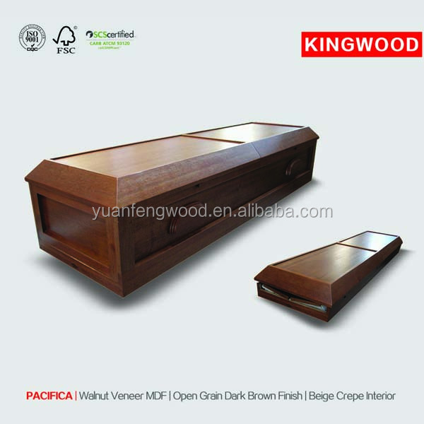 PACIFICA burial equipment with casket interior decoration