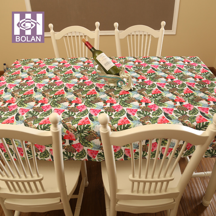 China supplier 100% polyester custom printed anti-stain polyester microfiber tablecloth