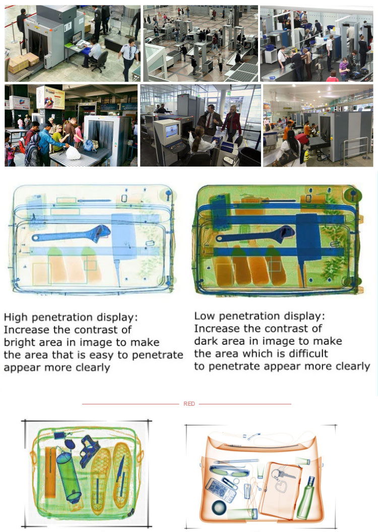 Best price x-ray airport baggage scanner with high-definition LCD and multi-energy function
