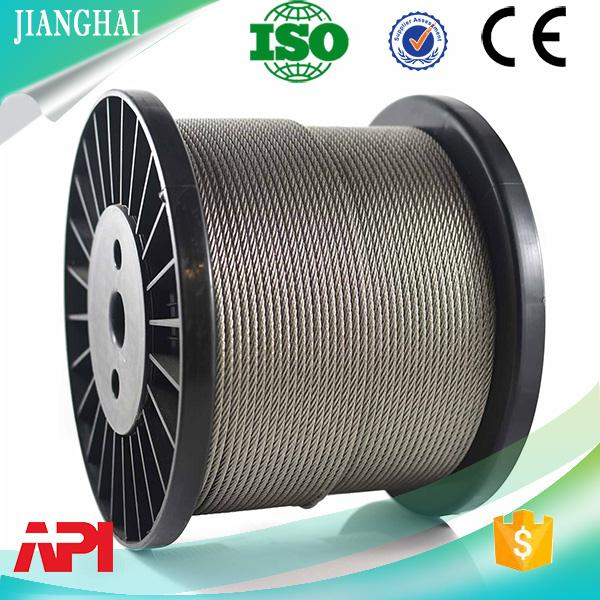 High Strong A2 A4 309 Stainless Steel Wire Rope 7*7 and 7*19 4mm