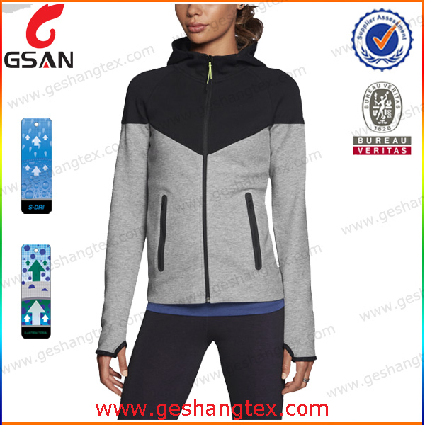 Anti-Shrink Tech fleece full zip modern hoody