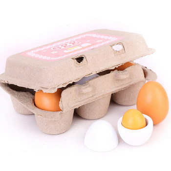 Egg Carton Kitchen Toys Children Play Kitchen Game Food Toy Wooden Kids Faux Eggs Pretend Play Realistic Kitchen Toy Food