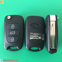 Hot sale flip remote key 3 button 433 mhz frequency for hyundai IX35