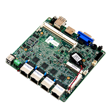 Fanless computer moederbord ondersteuning 4 * Intel I211AT Gigabit Ethernet met DDR3 204 socket