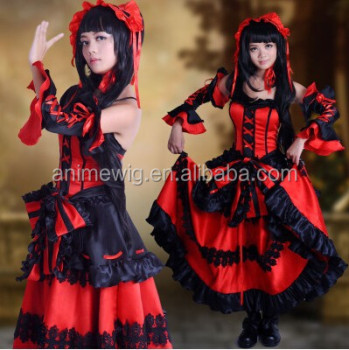 High Quality Tokisaki Kurumi Cosplay Costume Sexy Dress Anime