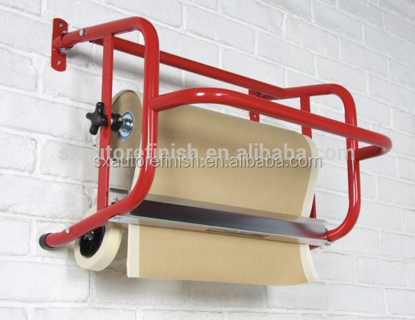 MASKING PAPER DISPENSER STOOL STAND HOLDER WITH STEP 450mm PAPER ROLL * STEEL