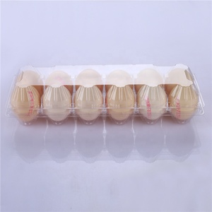 Wholesale Clear 12 Cell Pack Plastic Tray Packaging plastic egg tray For Chicken Egg