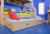 Modern bedroom children wood bunk bed with trundle bed