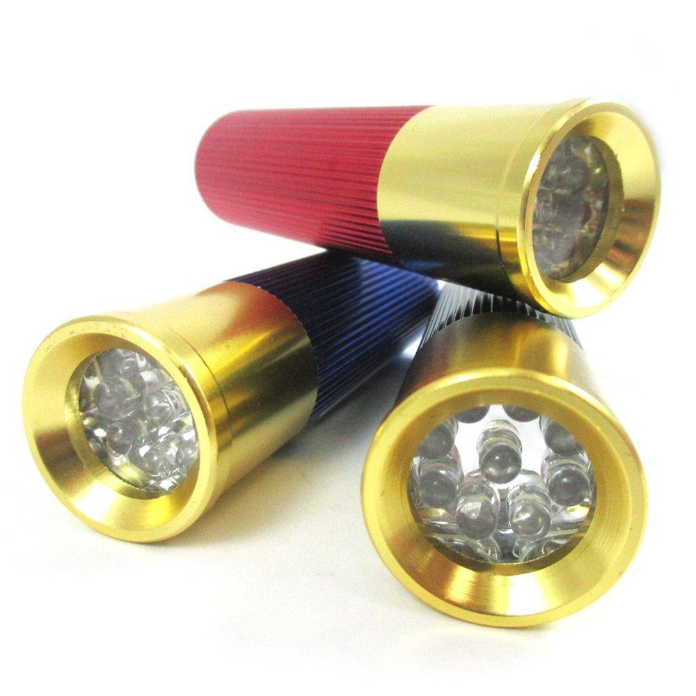 Bullet Shell Mini Aluminum Alloy Flashlight 9 Led Shotgun Light ...