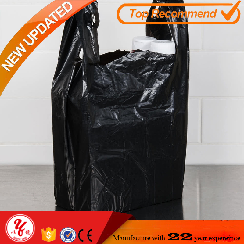 Custom design t shirt bags hdpe plastic printed shopping bags in dubai