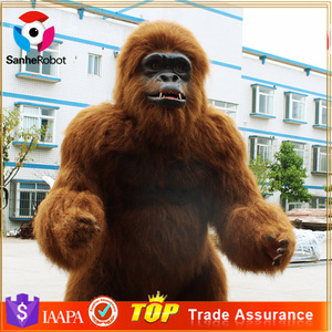 Simulated Life Size Animal Replica Animatronic Orangutan for Sale