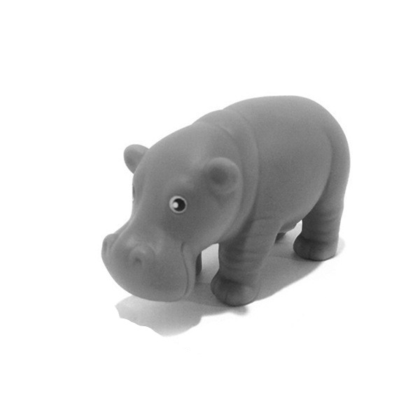 Promotional cheap plastic water animal toys hippo toy for kids