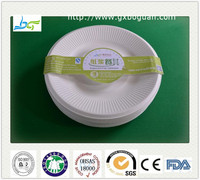 Eco friendly bagasse paper plates compostable round plates biodegradable disposable tableware