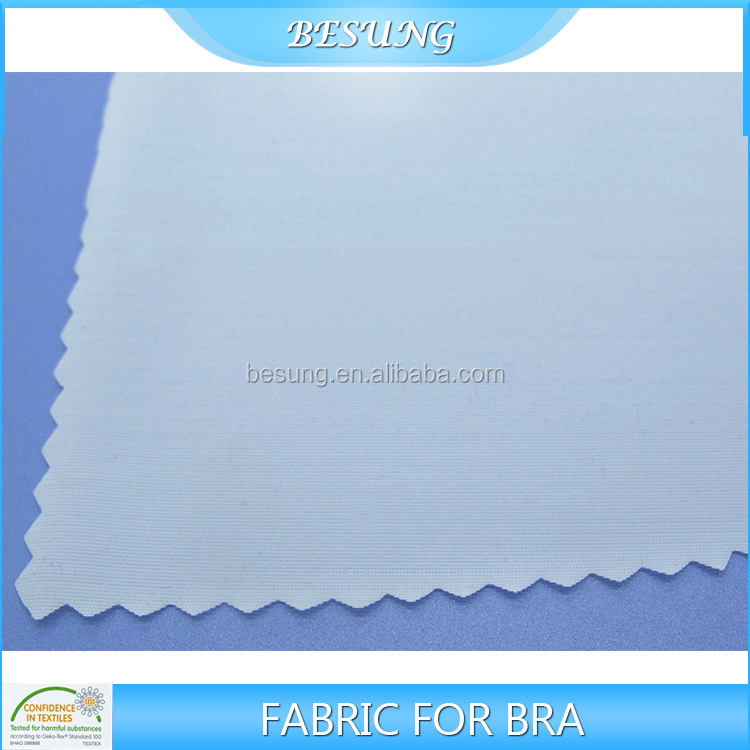 Oem service high quality biodegradable elastic jersey polyester spandex bra fabric