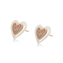98189 xuping 우아한 environmental 동 세라믹 heart women stud earring