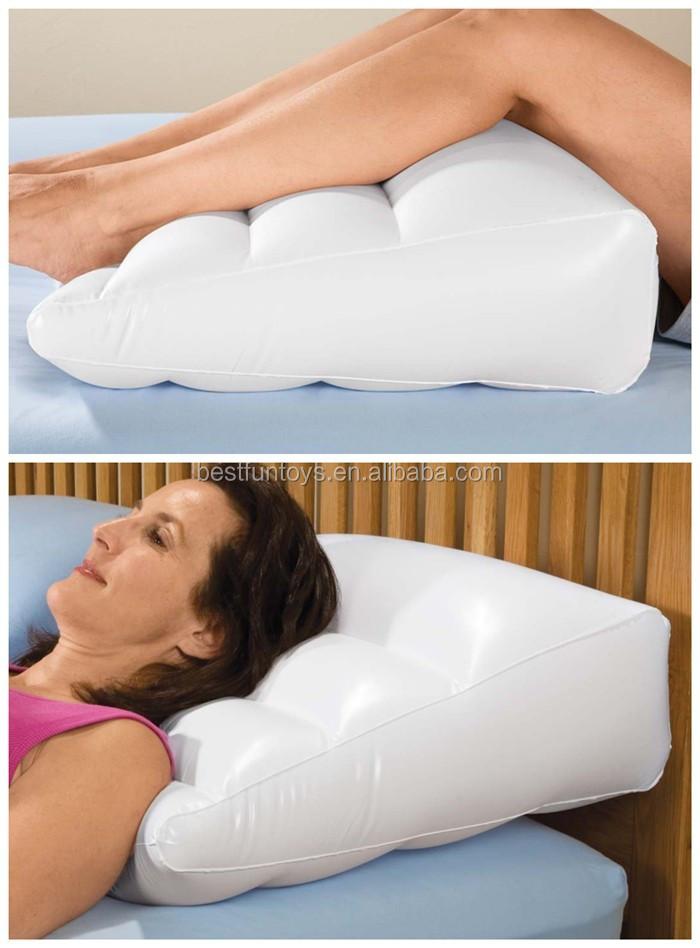 F brica custom made pvc ou reunindo infl vel perna resto - Gros coussin pour lire au lit ...