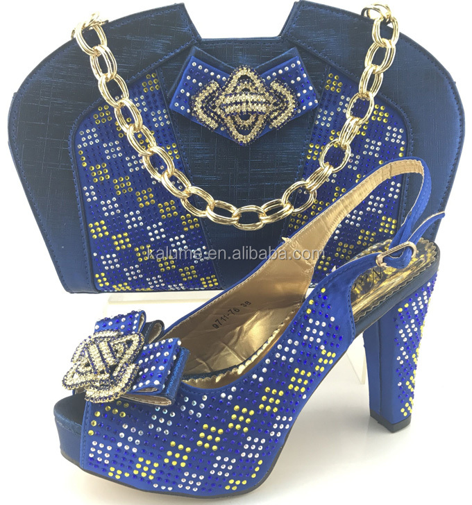 Matching Royal Party Bags And Clutch African And Bags Heel For Fashions Set High ME7710 Blue Shoes Quality Shoes High gxqPWwzT