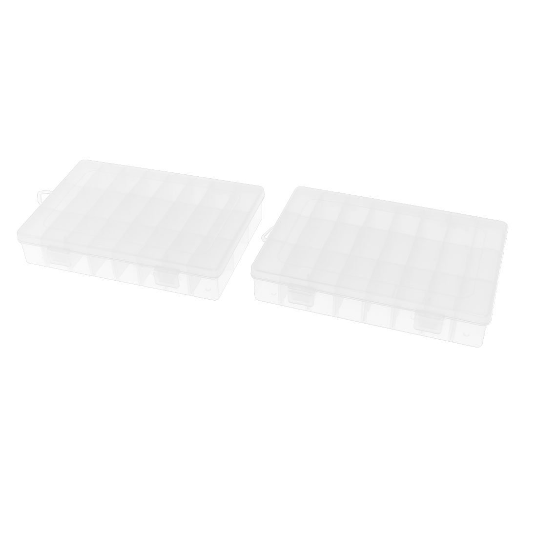 Uxcell a15092100ux0177 24 Separable Compartments Electronic Components Storage Box