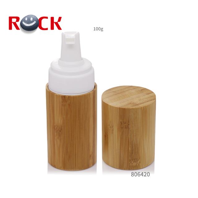 Rinfrescante naturale eco-friendly carbonizzato di bambù bottiglia di schiuma 100 ML