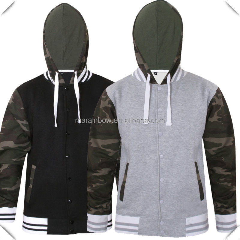 custom college camouflage fashion style jersey zip up hoody hoodie baseball jacket pullover hood hoodie camo army green