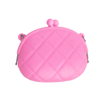 Wholesale Silicone Metal Chain Shoulder Bag Waterproof Coin bag Portable Cosmetic Bag