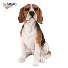 Wholesale OEM realistic life size beagle figurine home decor animal resin dog statues for sale