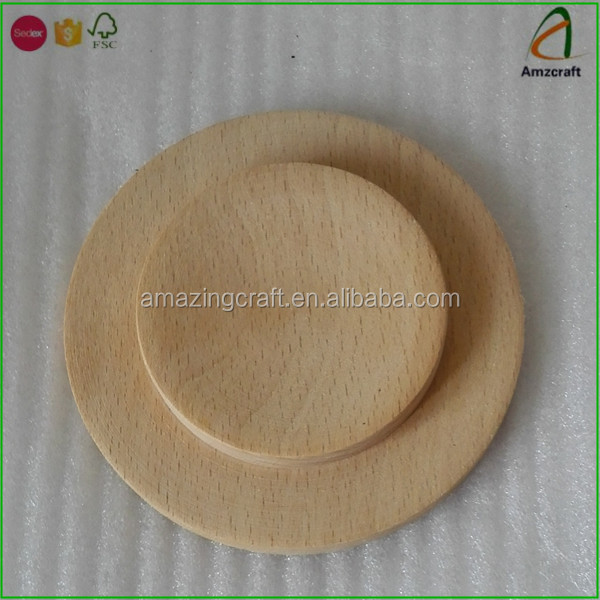 Beech Wood Wooden Cup Lid Cover,Ecofriendly and Durable Solid Wood Cover