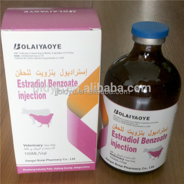 Estradiol Benzoate injection veterinary hormone drug medicine product