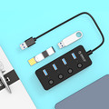 ORICO 4 Port USB 3.0 Hub with Individual Power Switches and LEDs (W9PH4-U3-V1)