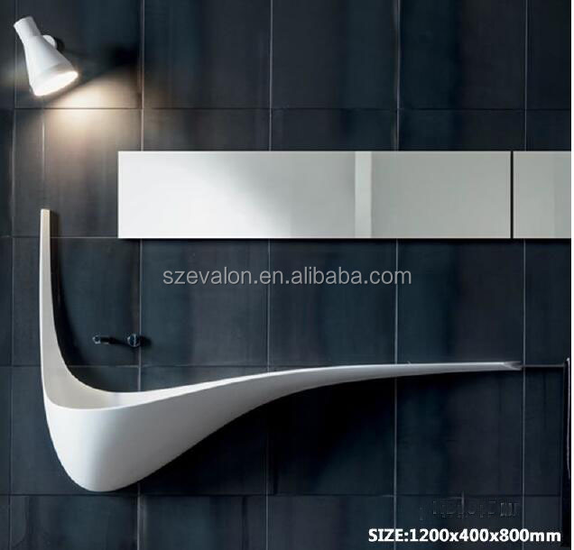 new model artificial stone resin basin, solid surface wall hung wash basins