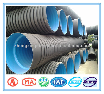 Hdpe Double Wall Corrugated Pipe For Drainage Size 200mm