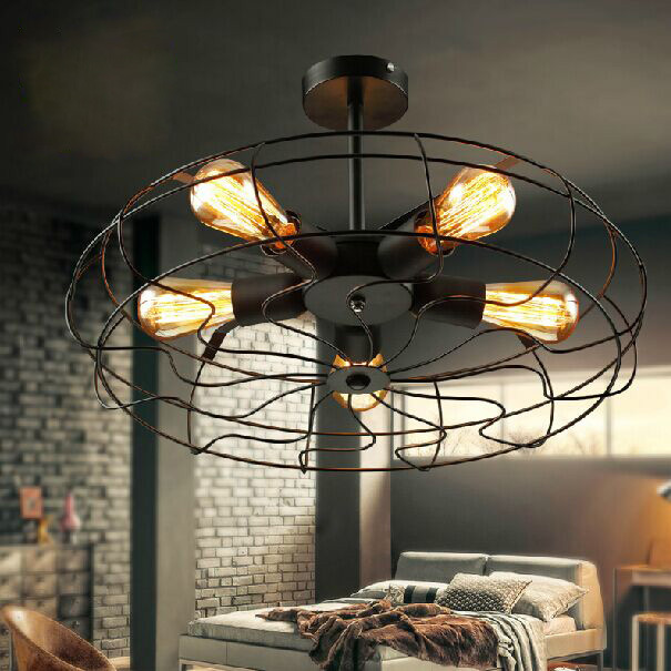 pays d 39 am rique loft rh ventilateur plafond lampes vintage industrielle hall chambre foyer. Black Bedroom Furniture Sets. Home Design Ideas