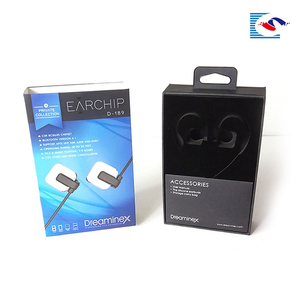 Fashional earphone packaging paper box factory or micro sd card blister packaging