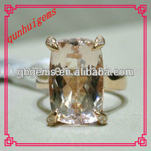 L-pink charming rectangle shaped cz stone