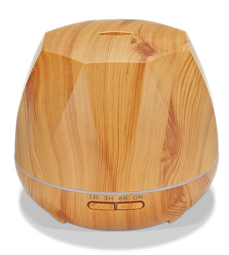 Free Delivery to US 550ml low price ultrasonic aroma essence oil of thousands mirrors ultrasonic aroma diffuser wood <strong>grain</strong> color