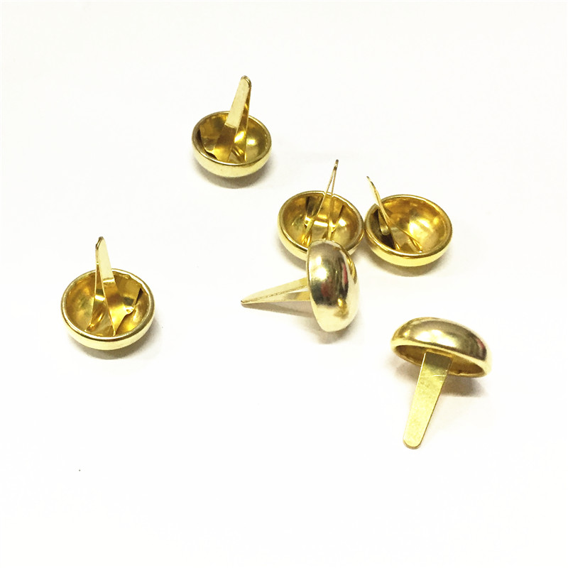 Manufacture Decoration Metal Mushroom Two Feet <strong>Nail</strong> For Handbag Bag Rivet