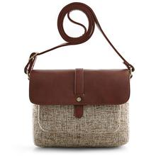 Vintage Flap-over week-end delle signore casuale del sacchetto di spalla crossbody per le donne