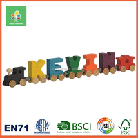 Wooden Alphabet train and Track toys for children ,multi-level layout with invisable magnetic
