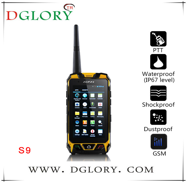 DG-S9 multifunctional 4.5 inch Tri-proof smart mobile phone Shockproof, dustproof, waterproof (IP67 level)