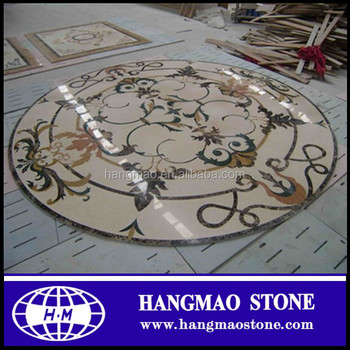 Populary Waterjet Marble Flooring Corner Designs