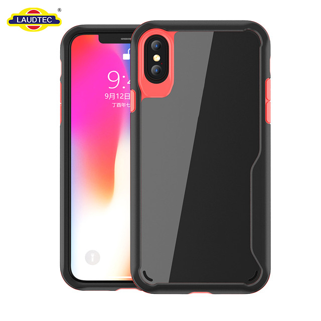 For iPhone X Case,PC + TPU Ultra-Thin Hybrid Case Shock Absorption Back Bumper Cover For For iPhone X