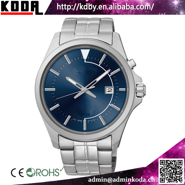 Blue Dial 10 ATM Water Resistanct Stainless Steel Kinetic Mens Watches
