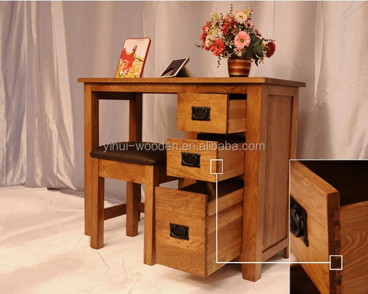 Design moderno mobili per la casa in legno massello scrivania