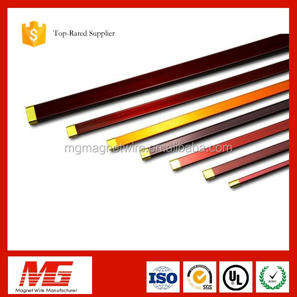 High breakdown voltage class c flat width 2 awg rectangular enamelled copper wires