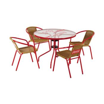 Vendo Tavolo Da Giardino.Rattan Di Plastica E Metallo Giardino Set Tavola Rotonda Con Sedie