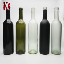 750 ml Niedriges MOQ Colored Glass Weinflaschen