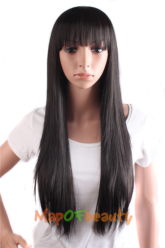 Mapofbeauty Long Loose Wave Light Dark Brown Black 75cm Women Wigs Cosplay Ladys Heat Resistant Synthetic Full Hair Always Buy Good Synthetic Wigs