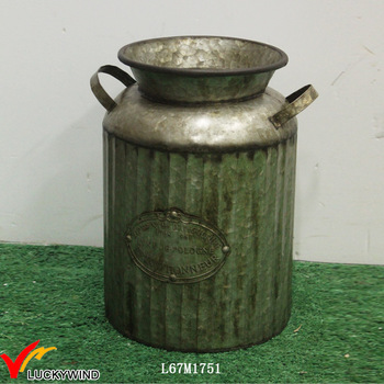 Small Vintage Old Metal Milk Jug Vase Buy Old Metal Milk Jug