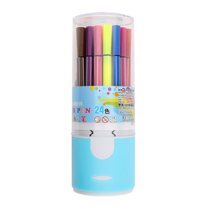 Promotional art material brush water color pens,blunt tip calligraphy pens