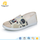 China Ladies cheap flat canvas shoes women casual